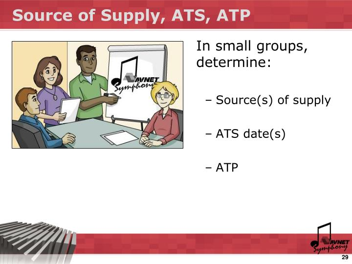 Source of Supply, ATS, ATP