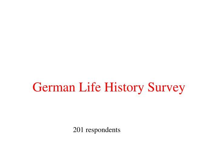 German Life History Survey