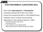 electrochemical capacitors ecs