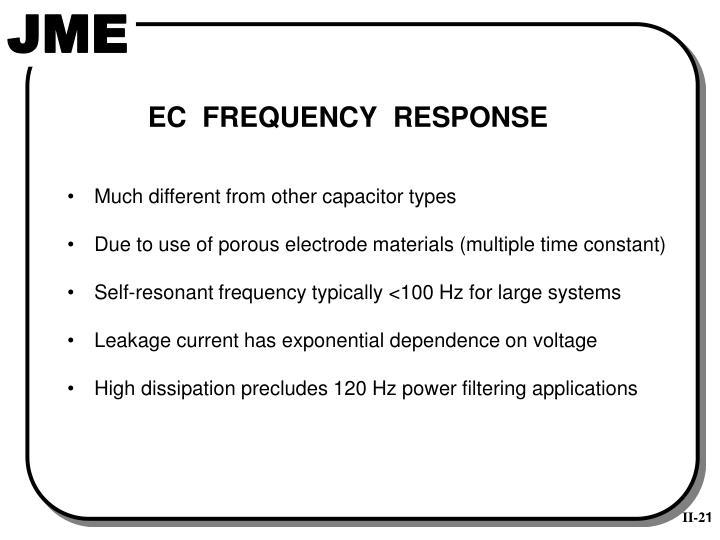 EC  FREQUENCY  RESPONSE