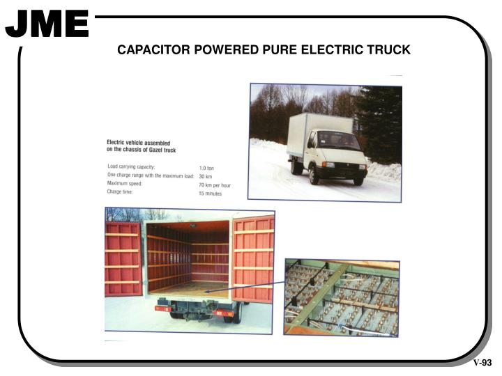 CAPACITOR POWERED PURE ELECTRIC TRUCK