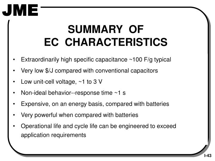 Extraordinarily high specific capacitance ~100 F/g typical