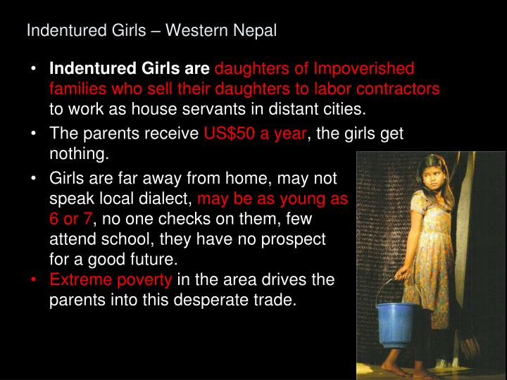 Indentured girls western nepal