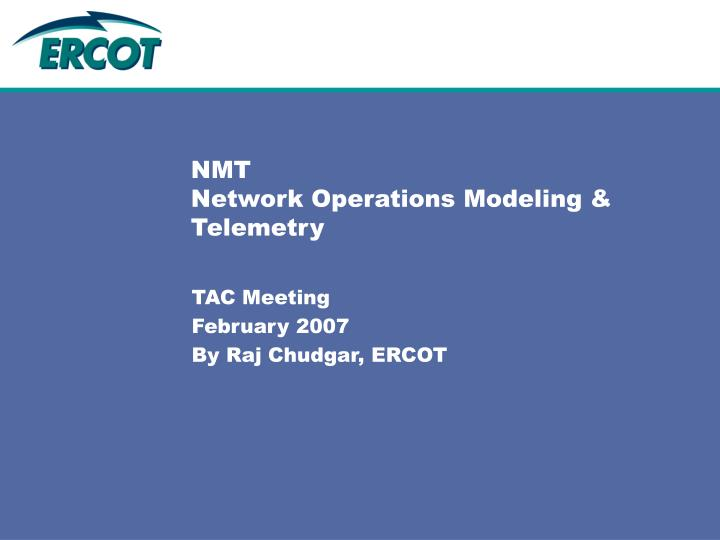 nmt network operations modeling telemetry