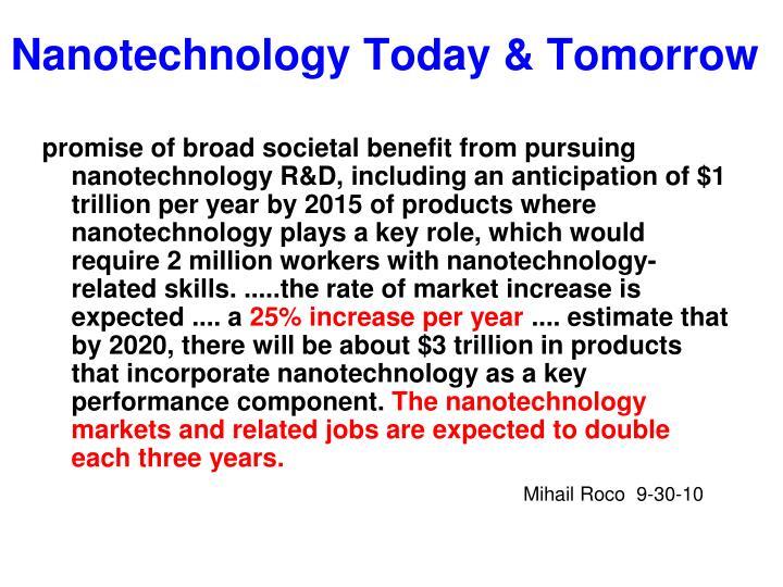 nanotechnology today tomorrow