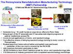the pennsylvania nanofabrication manufacturing technology nmt partnership