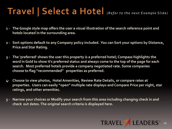 Travel | Select a Hotel