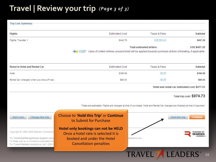 Travel | Review your trip