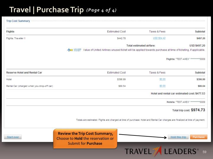 Travel | Purchase Trip