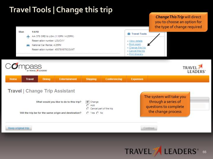 Travel Tools | Change this trip