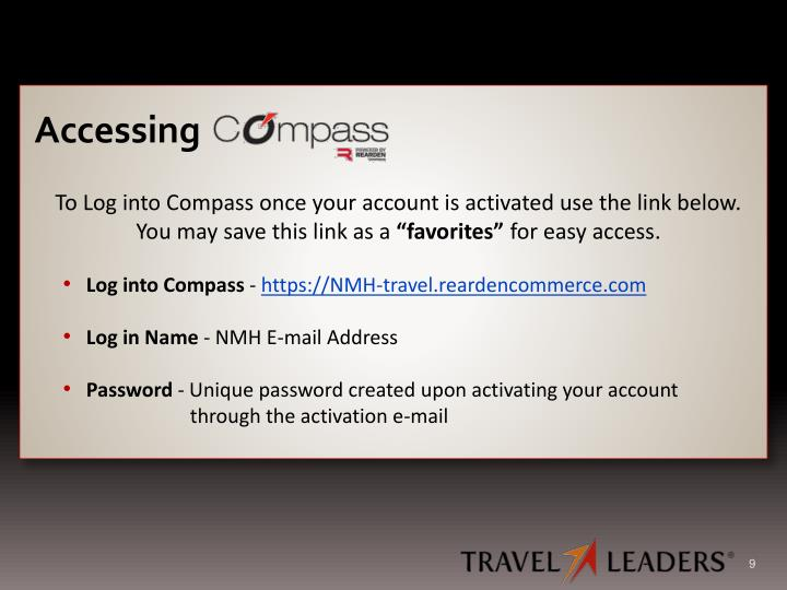 To Log into Compass once your account is activated use the link below.