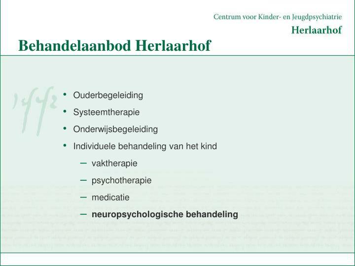 Behandelaanbod Herlaarhof