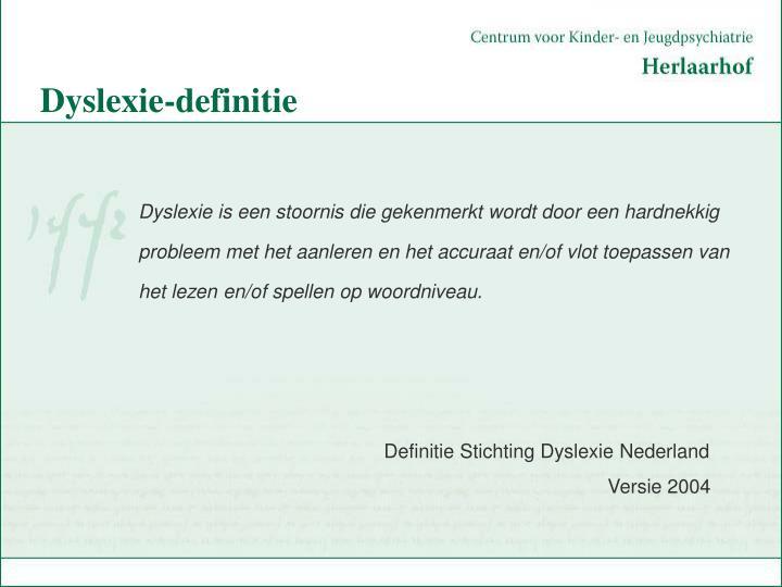 Dyslexie-definitie