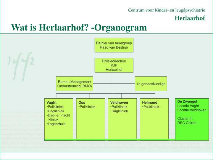 Wat is Herlaarhof? -Organogram