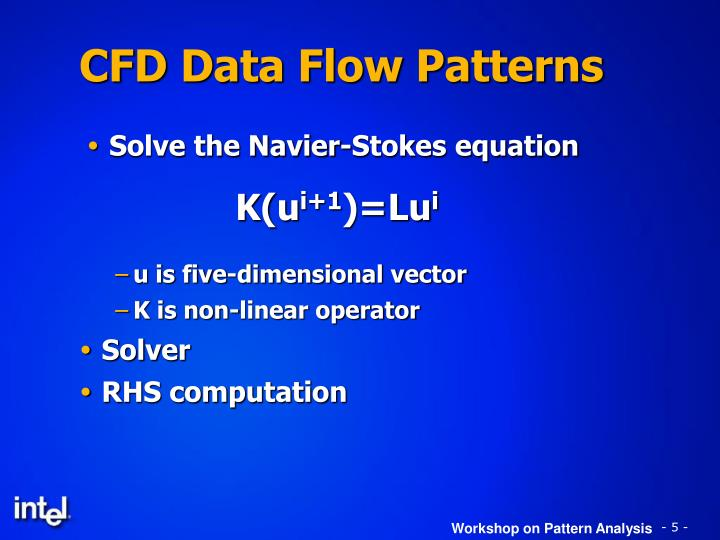 CFD Data Flow Patterns