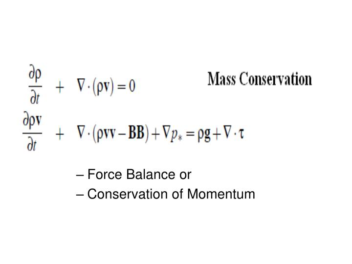 Force Balance or