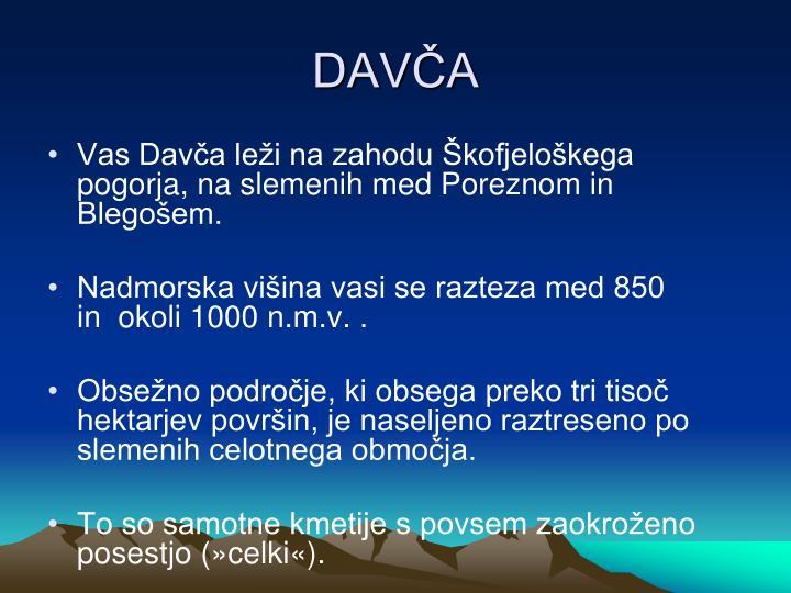 DAVČA