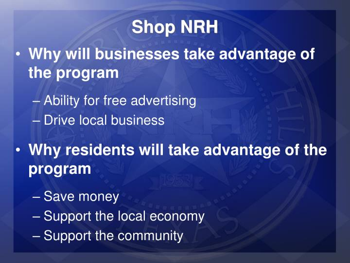 Shop NRH