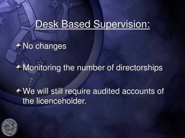 Desk Based Supervision: