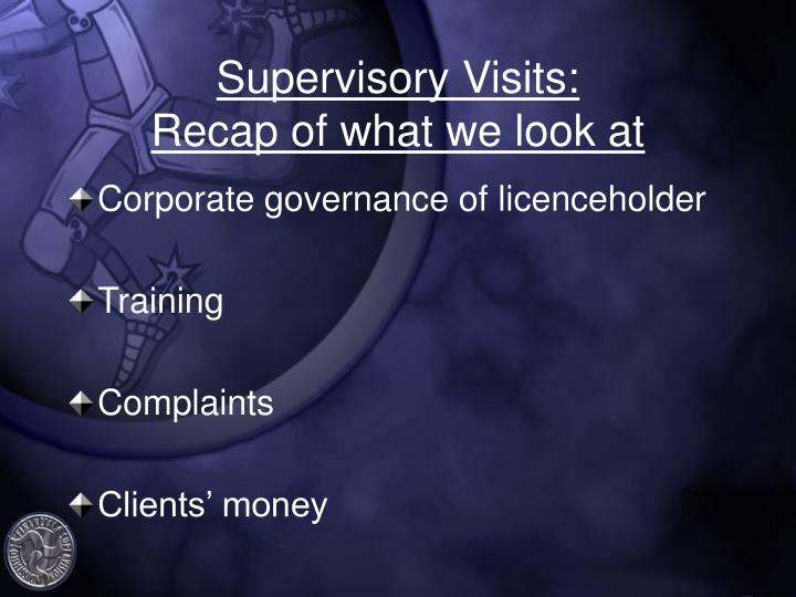 Supervisory Visits: