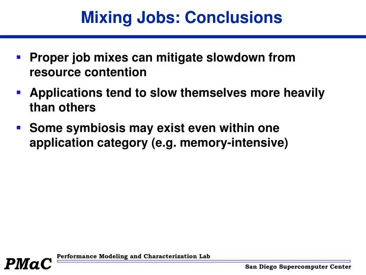 Mixing Jobs: Conclusions