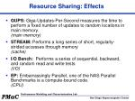 resource sharing effects