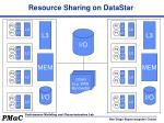 resource sharing on datastar