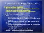 2 comments from february 5 work session4