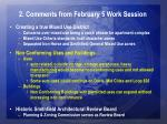 2 comments from february 5 work session5