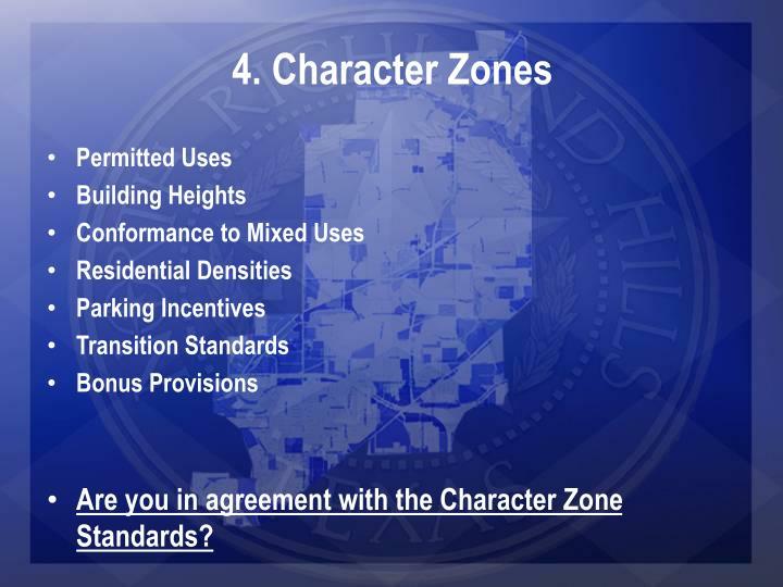 4. Character Zones