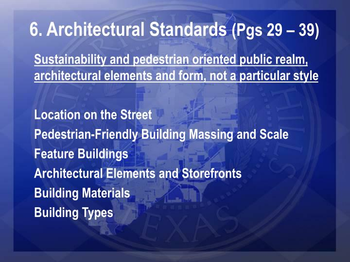 6. Architectural Standards