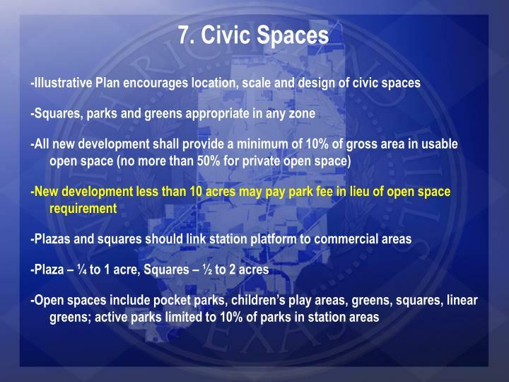 7. Civic Spaces