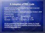 9 adoption of tod code
