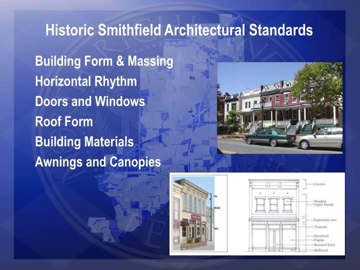 Historic Smithfield Architectural Standards