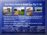 iron horse general mixed use pg 17 18