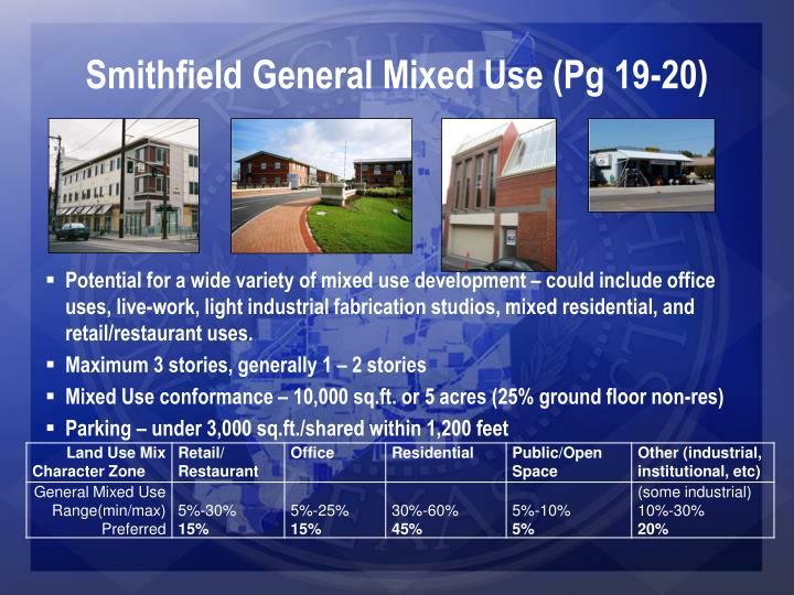 Smithfield General Mixed Use (Pg 19-20)