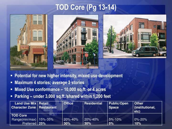 TOD Core (Pg 13-14)