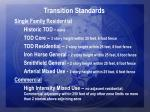 transition standards