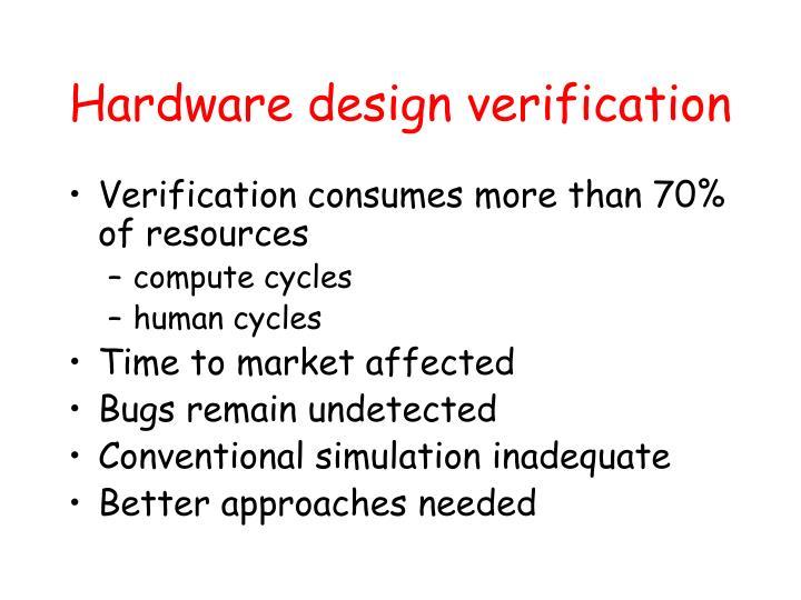 Hardware design verification