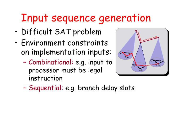 Input sequence generation