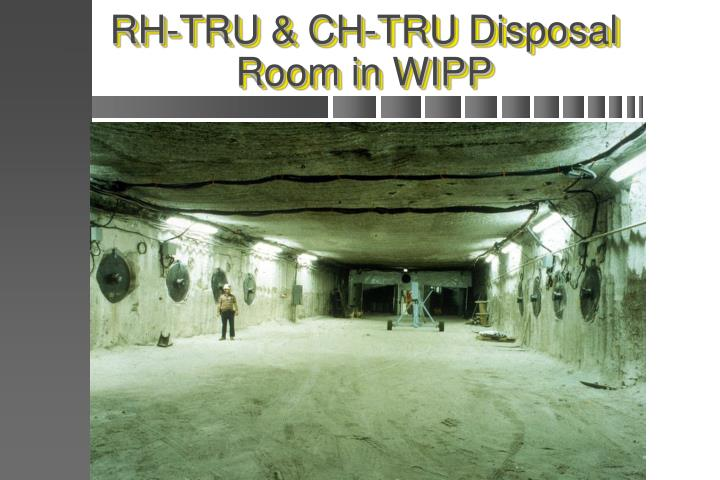 RH-TRU & CH-TRU Disposal Room in WIPP
