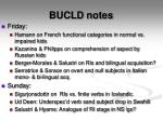 bucld notes