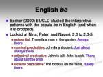english be