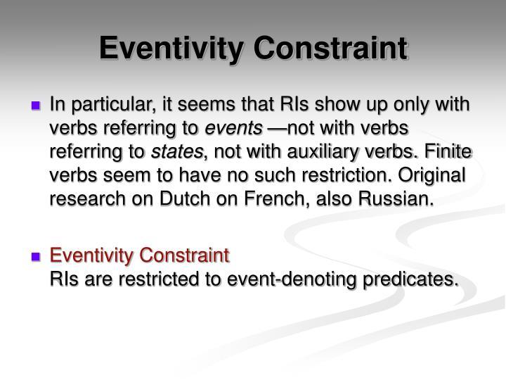 Eventivity Constraint