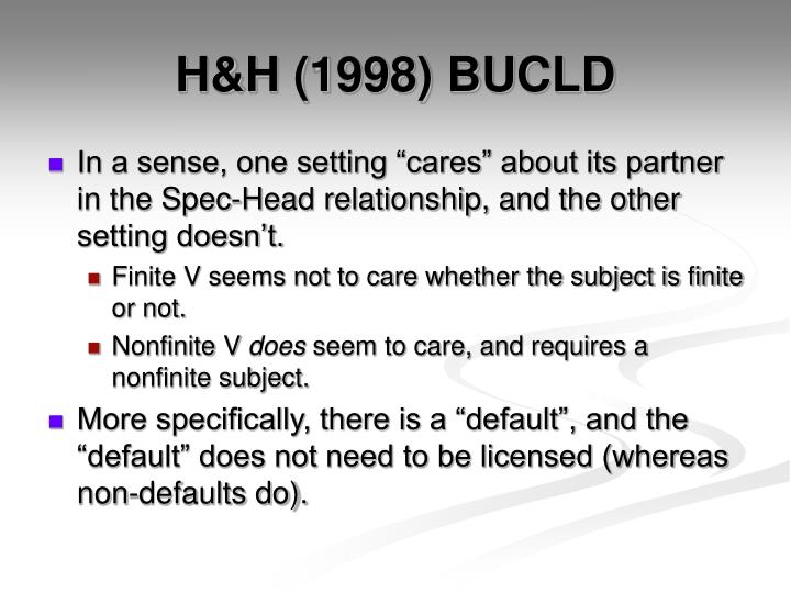 H&H (1998) BUCLD