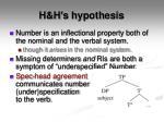 h h s hypothesis