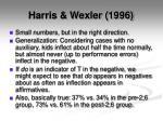 harris wexler 19965