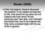 wexler 20002