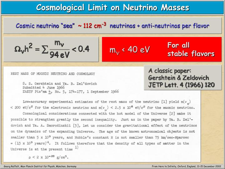 "Cosmic neutrino ""sea"""