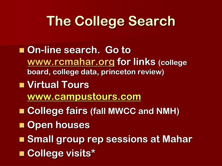The College Search